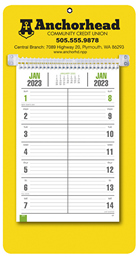 Bi-Weekly Promotional Memo Calendar - Yellow