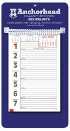 Promotional Big Numbers Weekly Memo Calendar  - Blue