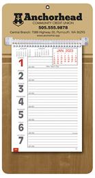 Promotional Big Numbers Weekly Memo Calendar  - Butcher Block