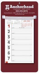 Promotional Big Numbers Weekly Memo Calendar  - Maroon