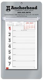 Promotional Big Numbers Weekly Memo Calendar  - Silver