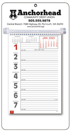 Promotional Big Numbers Weekly Memo Calendar  - White