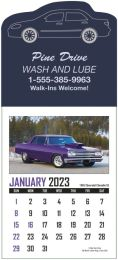 Memorable Muscle Cars Stick-Up Calendar, 25 shapes