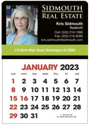 Full-Color Imprint Stick-Up Calendar with Two Color English Grid