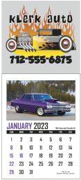 Full Color Adhesive Mini Calendar With Automotive Pad