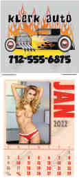 Mystique Topless Models Adhesive Stick-Up Calendar with Full-Color Imprint
