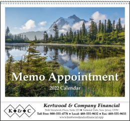 Memo Appointment with Tip-On Picture Promotional Calendar