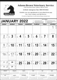 Black & White Contractor Memo Calendar