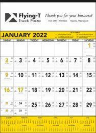 Yellow & Black Contractor Calendar, Julian Dates, 18x25