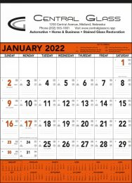 Orange & Black Commercial Contractor Calendar, 18x25