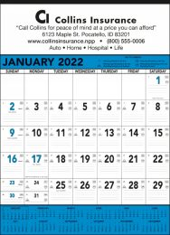 Contractor Calendar w Blue & Black Grid, 18