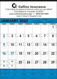 Blue & Black Contractor Calendar