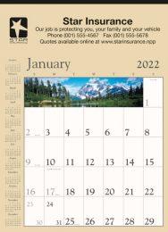 Decorator Memo Calendar Tan