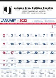 Patriotic Colors Contractor's Calendar, 18x25,