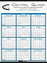Span-A-Year (Laminated with Marker) Promotional Calendar