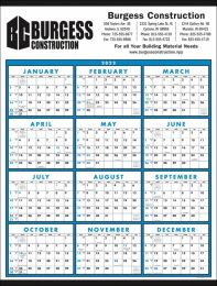 12 Month View Non-Laminated Large Format Calendar Size 22 x 29
