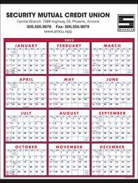 Year In View Wall Calendar w Week Numbers, Single Sheet Size 22x29, Week Numbers, Tinned