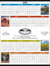 Scenic Span-A-Year Promotional Calendar  Size 22x29