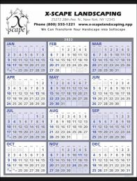 Year-At-A-Glance Calendar Size 22x29, , Promotional