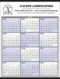 12 Months-At-A-Glance Promo Calendar Size 22x29,