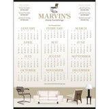 Custom Single-Sheet Span-A-Year Calendar 22 x 29