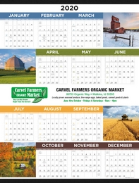 Agricultural Year In View Calendar Size 22x29