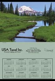 Span-A-Year Calendar , 27x39, Mount Rainier