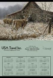 Jumbo Hanger Span-A-Year Calendar, 27x39, White Tail Deer