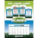 Custom Single Sheet Calendar w Stapled Grid, Size 22 x 29