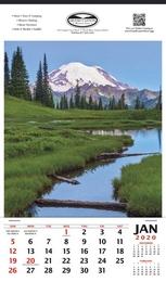 Mount Rainier Scenic Calendar  - 12x20.5