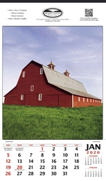 Single Image Hanger Calendar  - Summer Barn Scene, 12x20.5