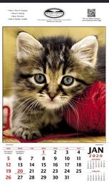 Vertical Hanger Promotional Calendar  Kitten - Size 12x20.5