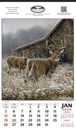 White-Tailed Deer Vertical Hanger Promotional Calendar,12x20.5, , Wildlife Theme