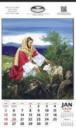 The Lost Sheep Religious Theme Promotional Calendar, , 12x20.5, Single Image