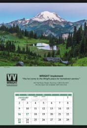 Jumbo Promotional Calendar, Mount Baker 27x39 Stapled Pad