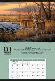 Jumbo Hanger Promotional Calendar - White Tail Deer 27x39