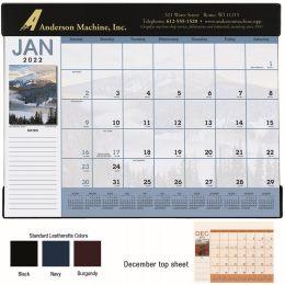 Scenic Desk Pad Calendar w/vinyl header