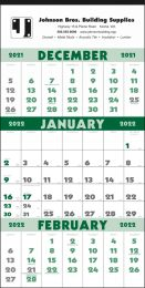Three-Month Promo Calendar with Julian Dates