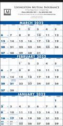 3-Month Calendar with Julian Dates (4 Sheets)