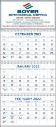 3 Month View Blue & Grey Commercial Calendar w Julian Dates 13