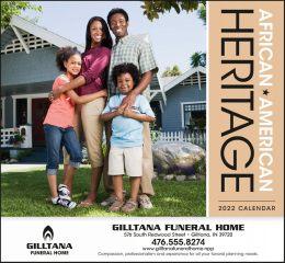 African-American Heritage Family Calendar Stapled