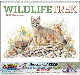 Wildlife Trek Promotional Calendar with Spiral Binding