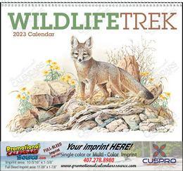 Wildlife Trek Calendar with Spiral 11x19