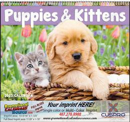 Puppies & Kittens Promotional Calendar,  Spiral