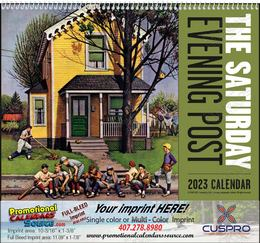 The Saturday Evening Post Promotional Calendar  Spiral