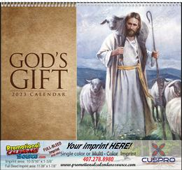 God's Gift Calendar, With Funeral Pre-Planning Sheet, Religious Calendar