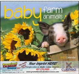 Baby Farm Animals Calendar  Spiral