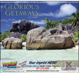 Glorious Getaways Promotional Calendar  Spiral