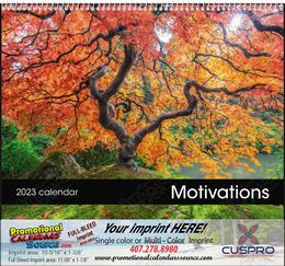 Motivations Calendar w Spiral Binding and Drop Ad