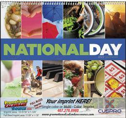 National Day Celebration Promotional Calendar , Spiral